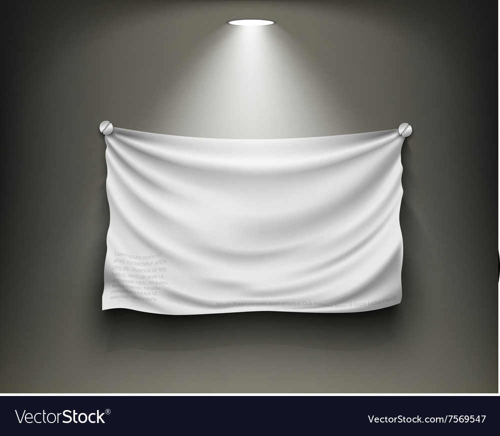 Gallery with blank white place vector