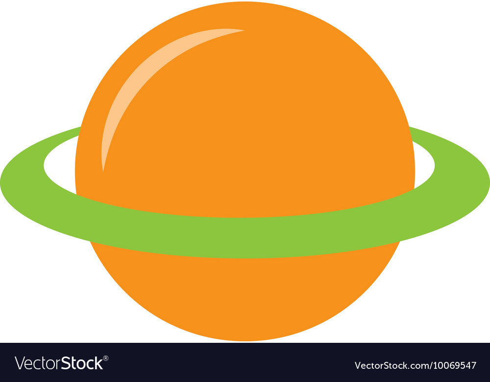 Planet saturn space icon vector