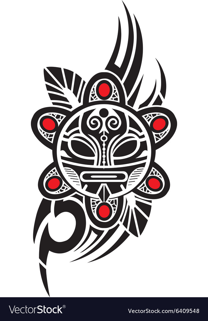 Taino sun tribal vector