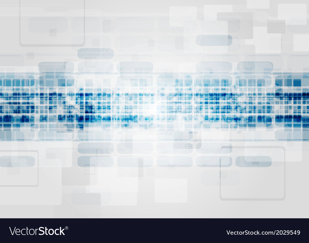 Blue and grey tech design vector