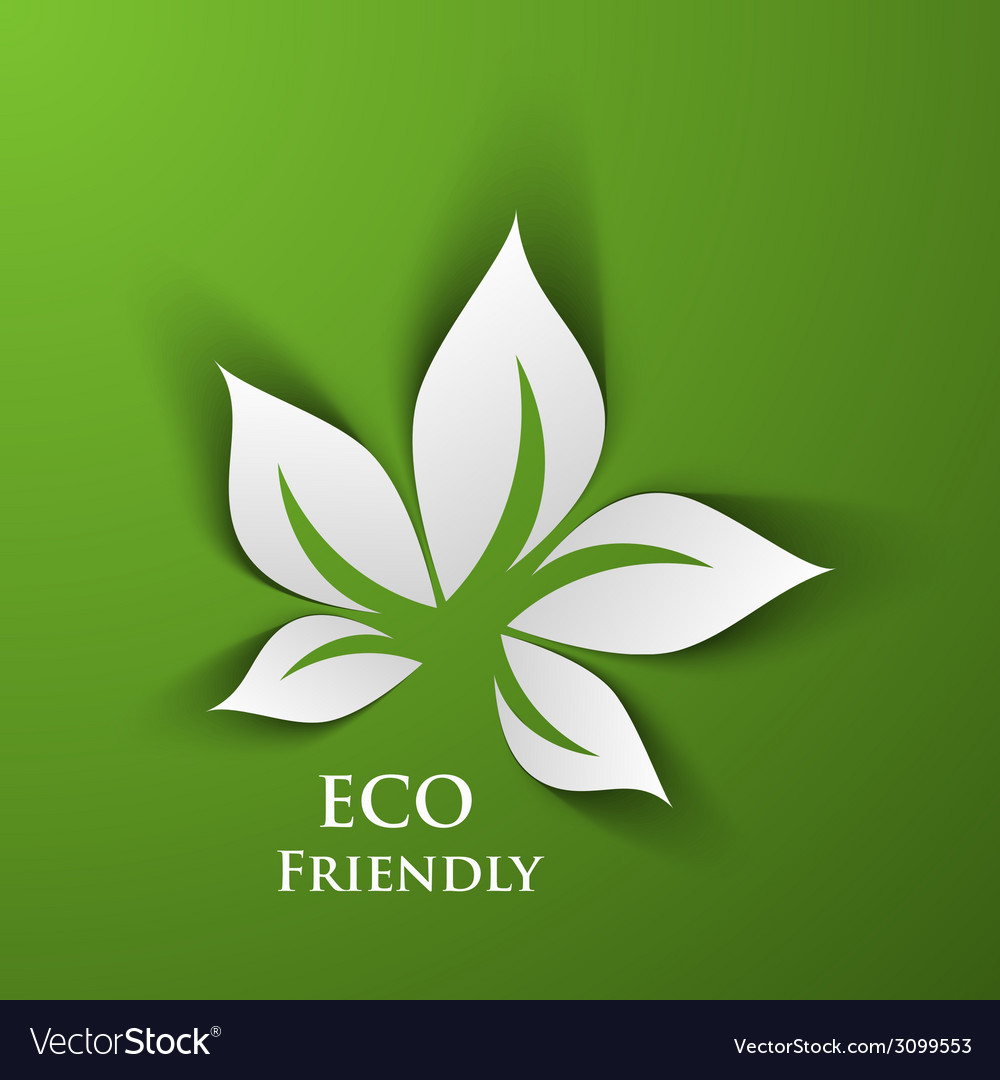 Green eco friendly vector