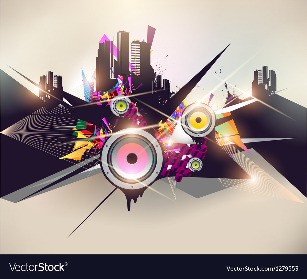 Music urban poster vector