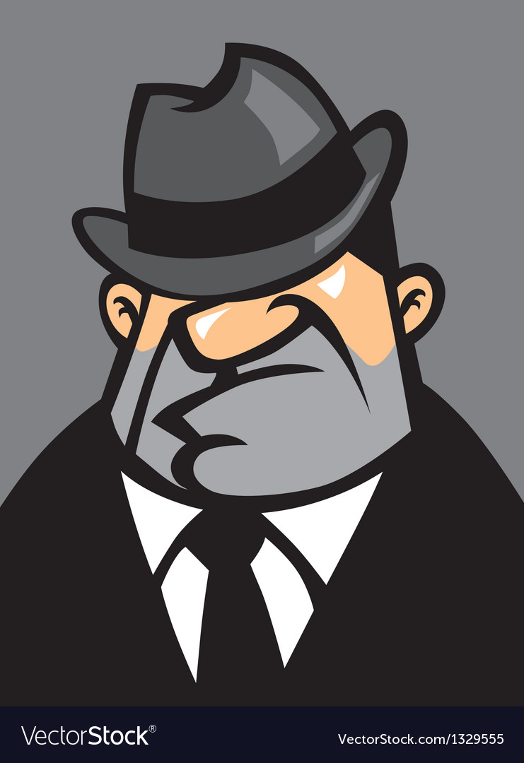 Fat mafia portrait vector