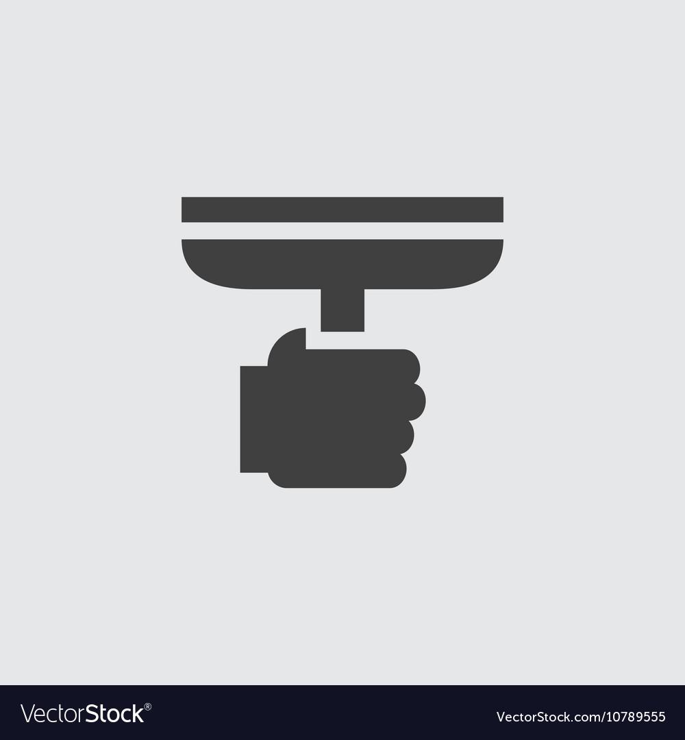 Window cleaner icon vector
