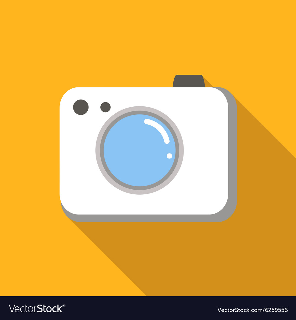 Camera colored flat icon vector