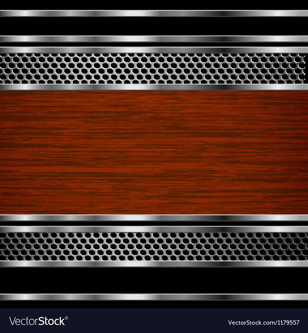 Steel and wood background vector