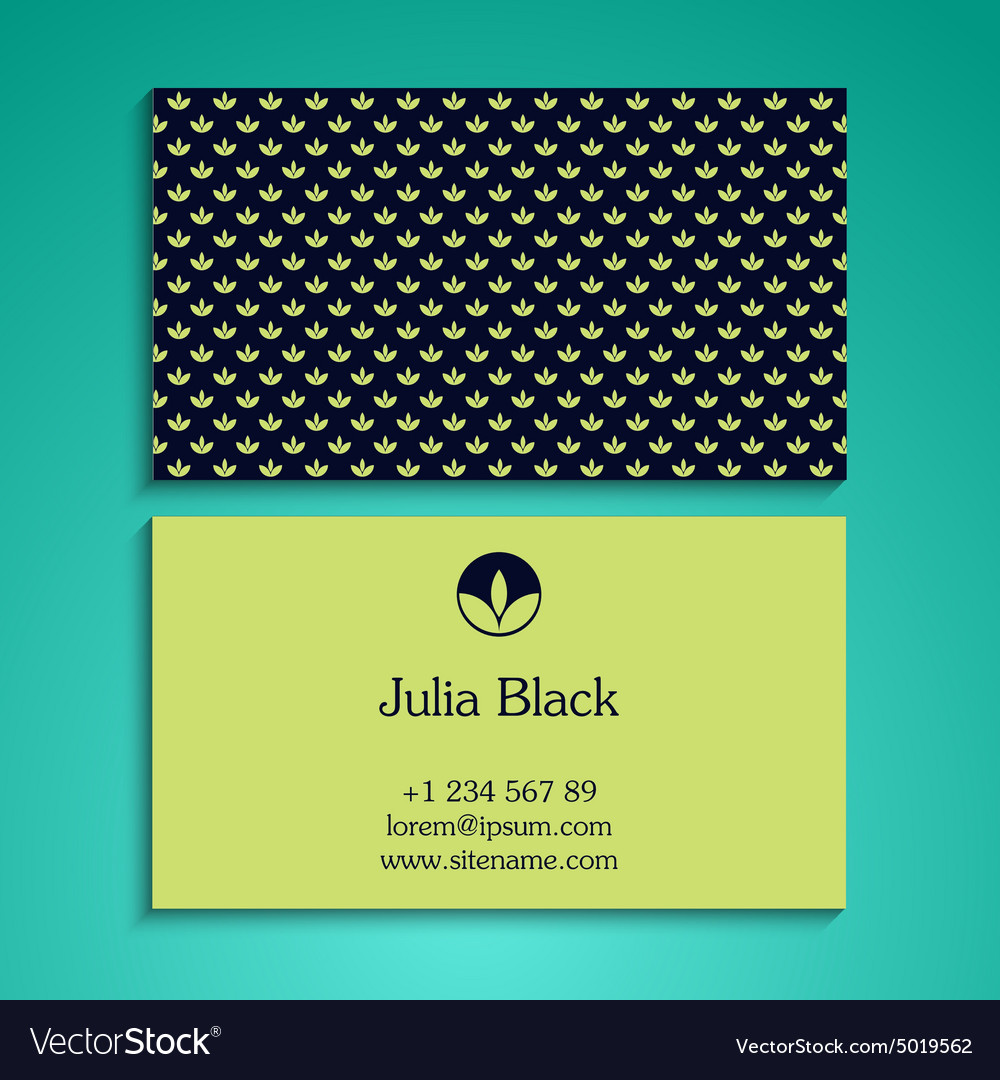 Business card background vector