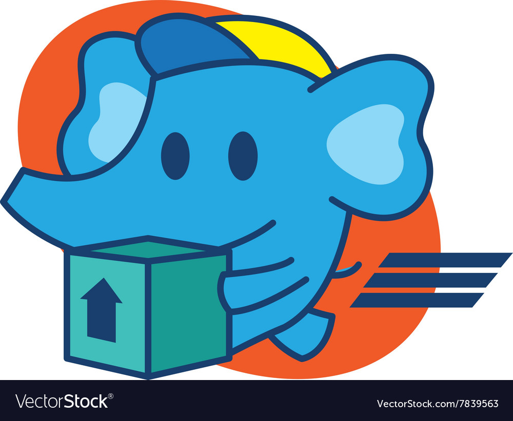 Elephant express vector