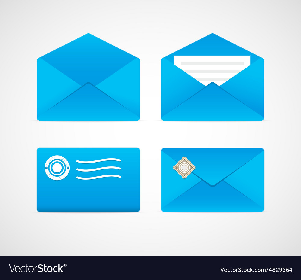 Stamped envelopes vector