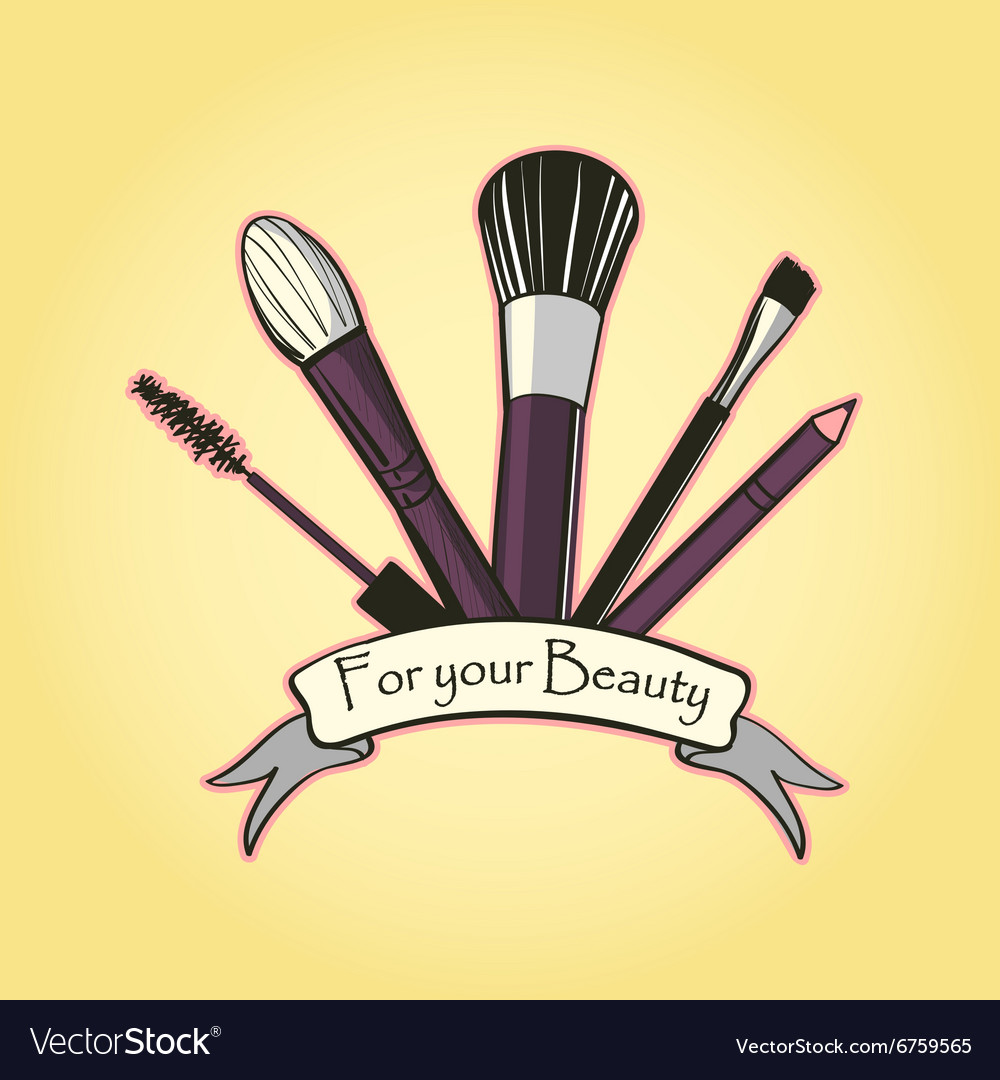 Cosmetics label for design vector
