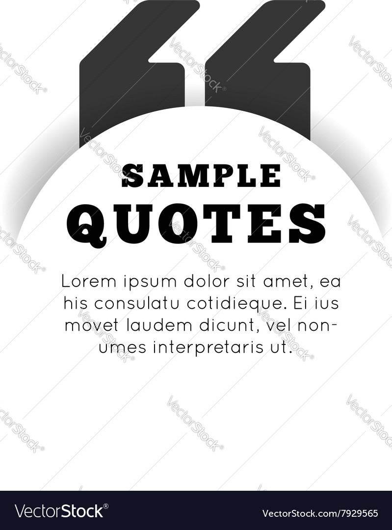 Quote blank template on white background vector