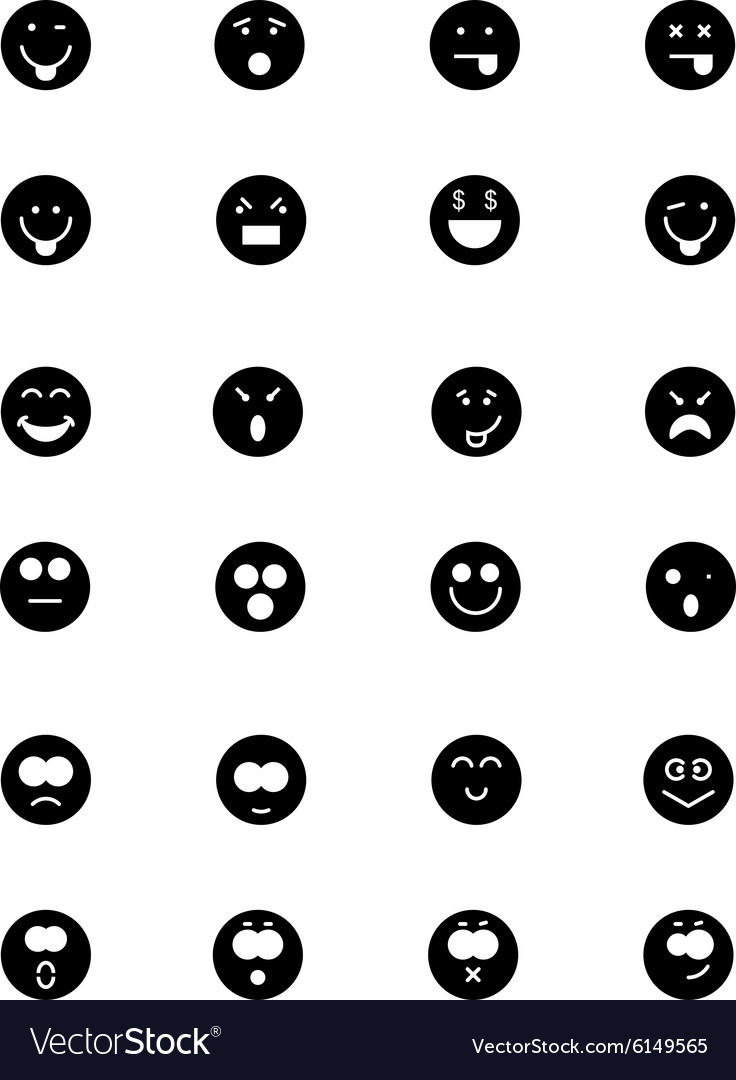 Smiley icons 2 vector