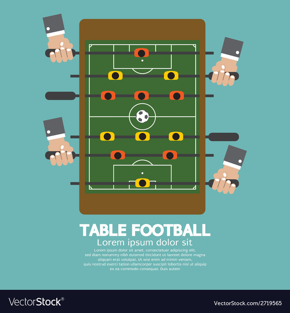 Top view of table football vector