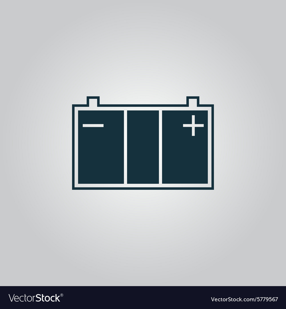 Car battery icon vector