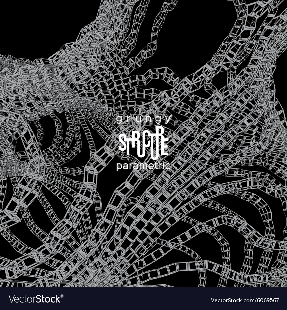 Grunge parametric structure design vector