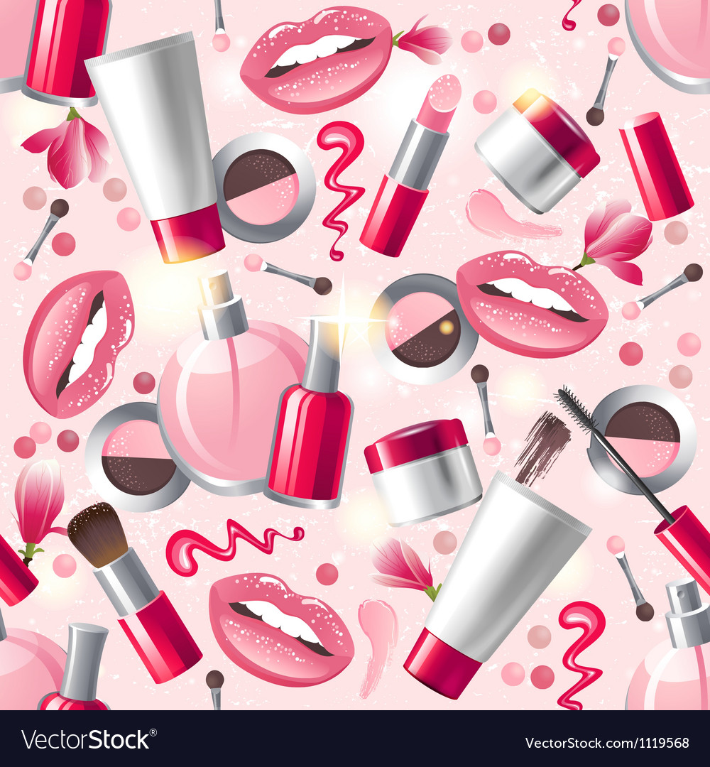 Cosmetics seamless vector
