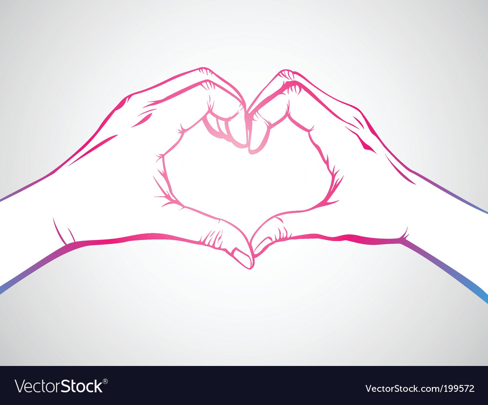 Love sign vector