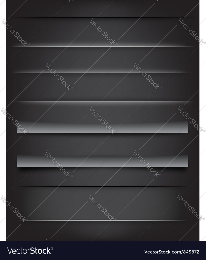 Shadows and dividers vector