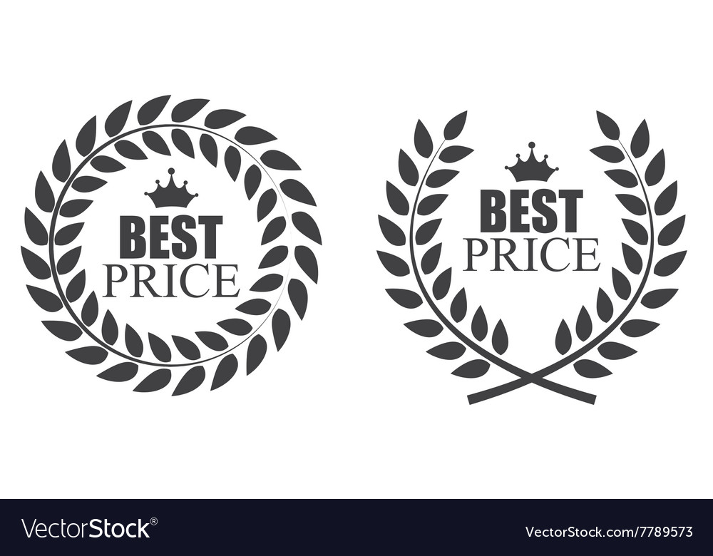 Award laurel wreath best price label vector