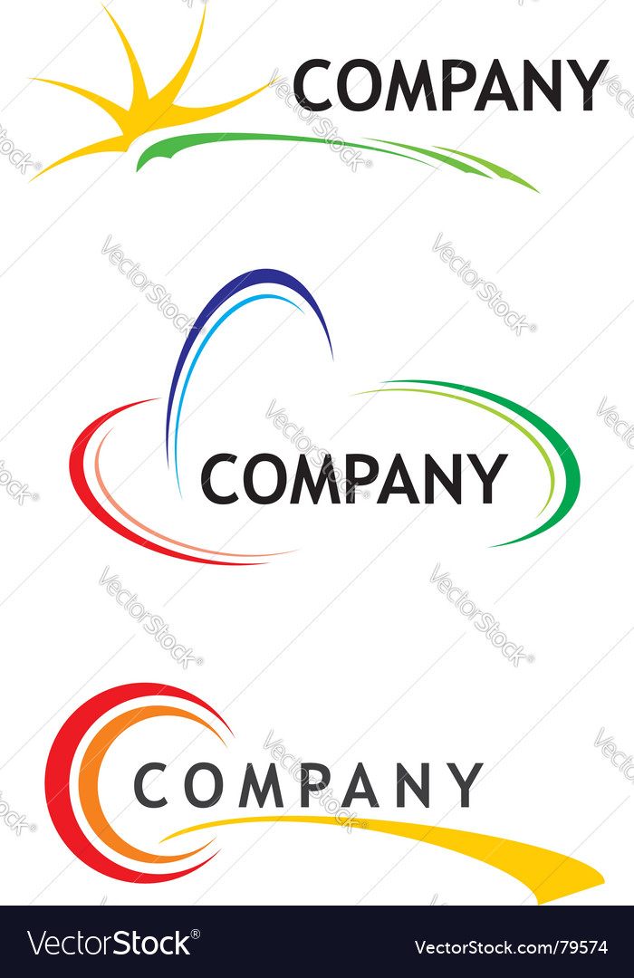 Corporate logo templates vector