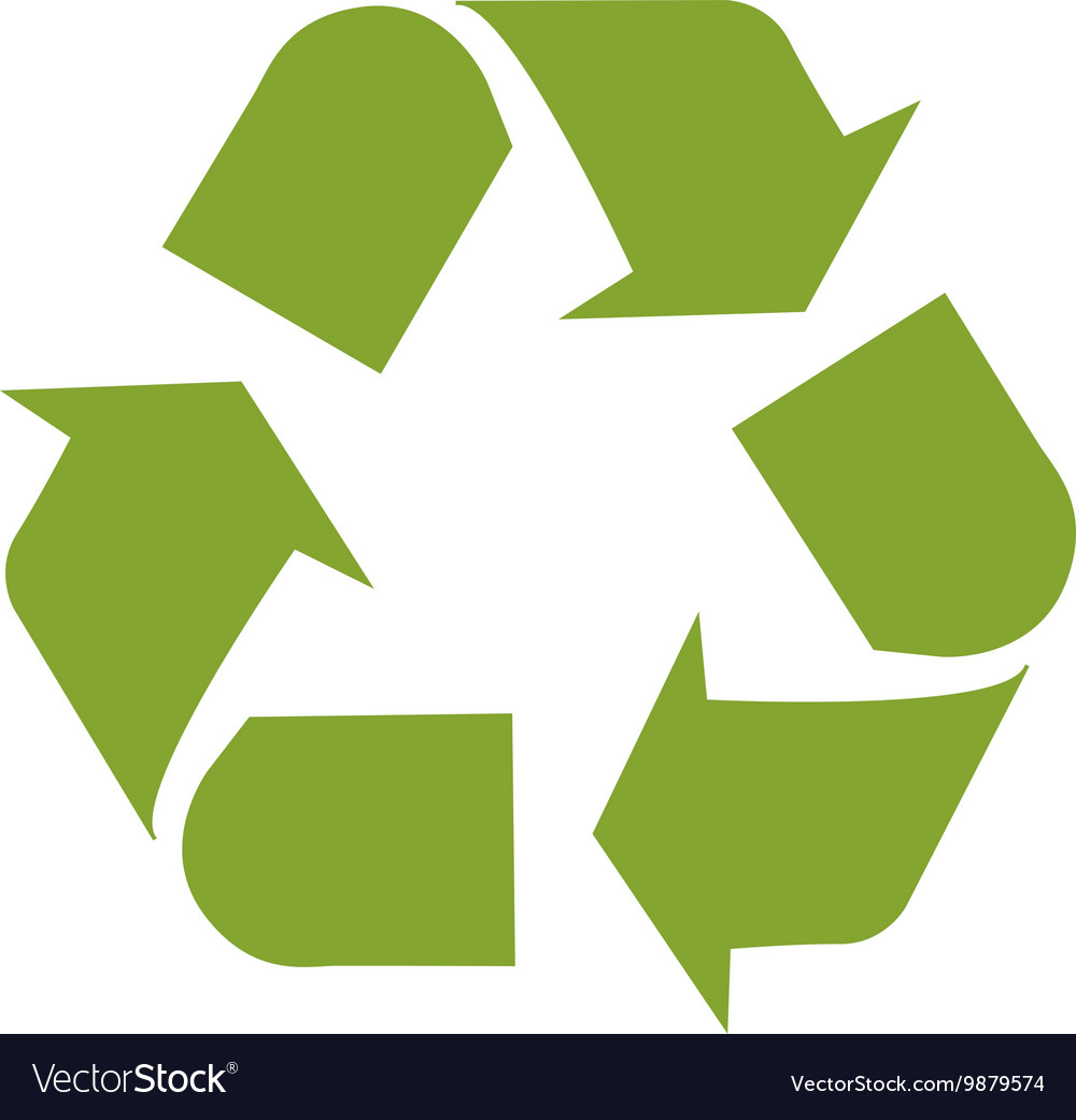 Ecological symbol design vector