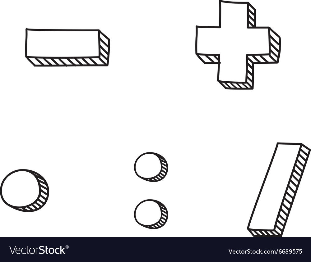 Hand drawn icon isolated on white background vector