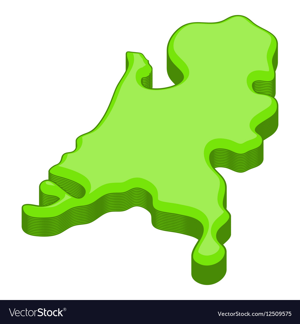 Holland map icon cartoon style vector