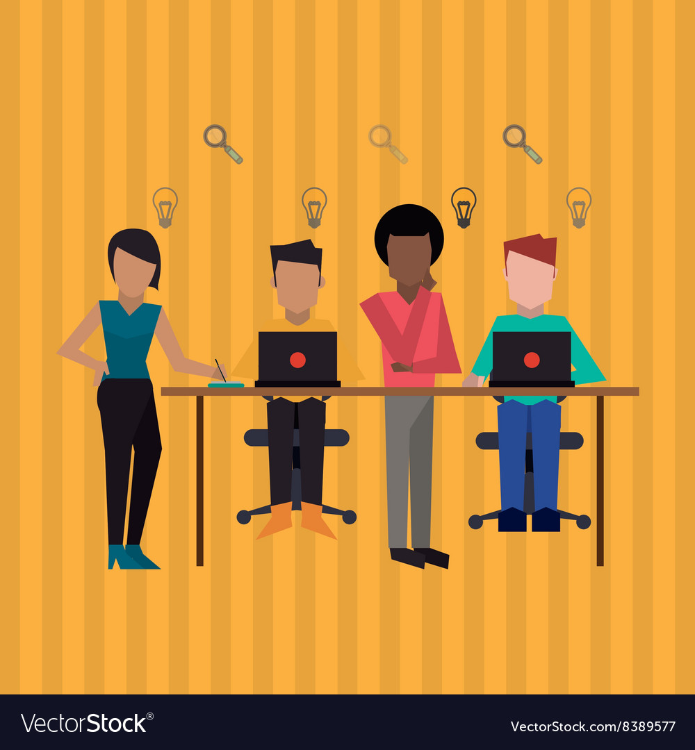 Communication and people graphic design vector