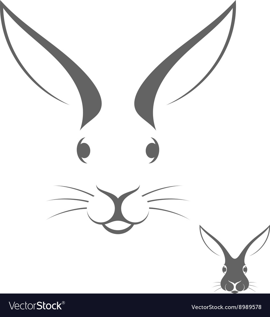 Rabbit head logo vector