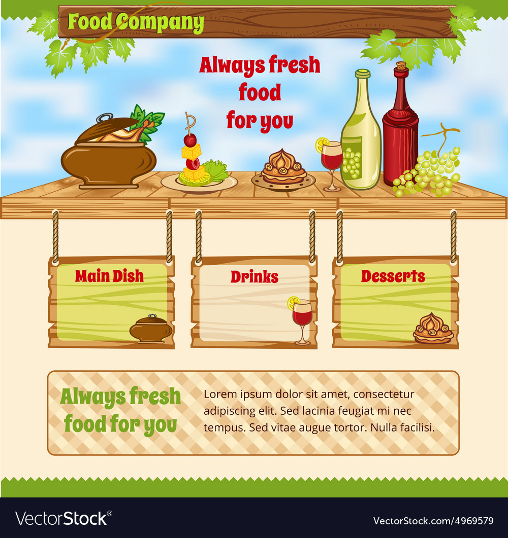 Background for food template vector