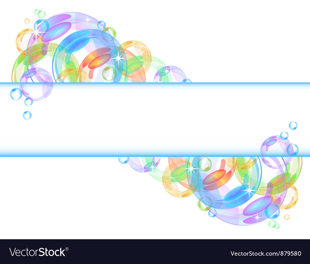 Colorful bubble background vector