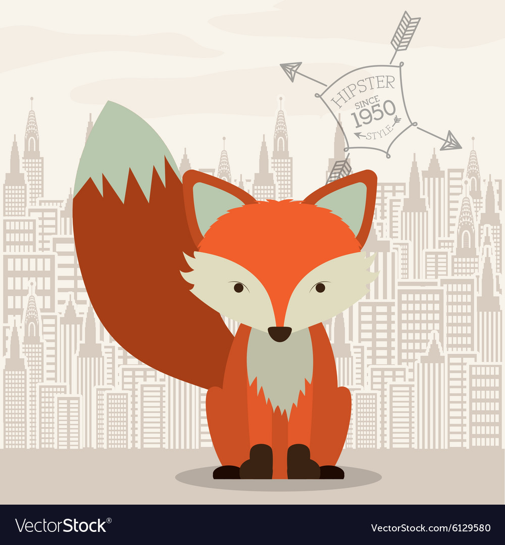 Fox design vector
