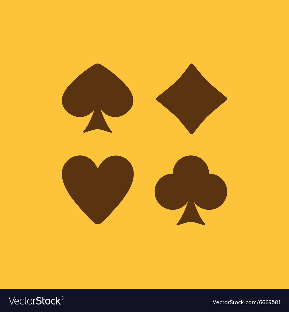 Playing card suit icon vector