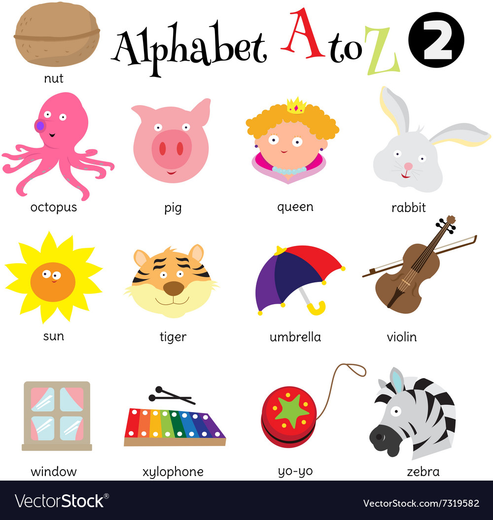 Alphabet a to z 2 vector