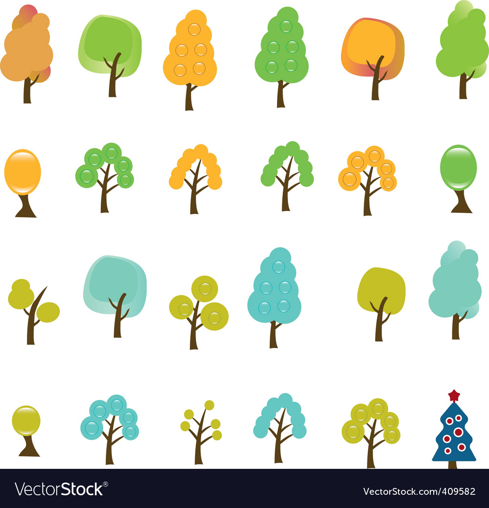 Trees signs vector