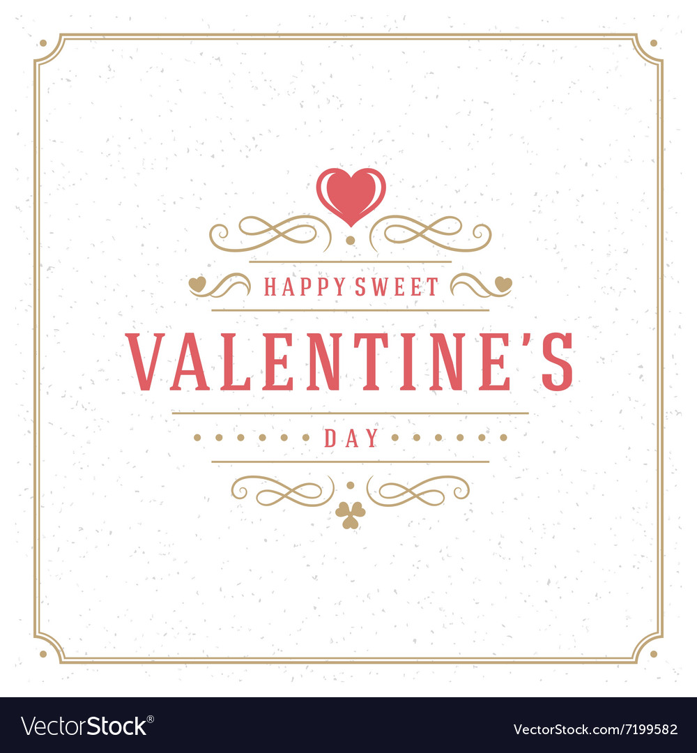 Valentines day greeting card or poster vector