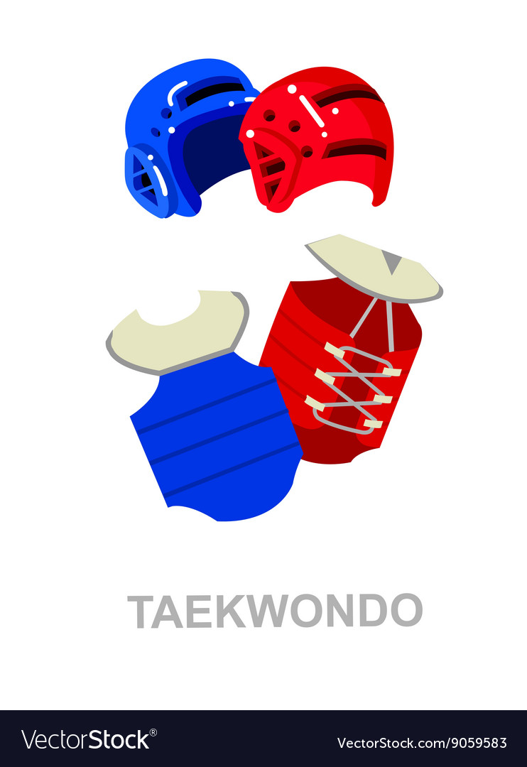 For martial art poster taekwondo vector