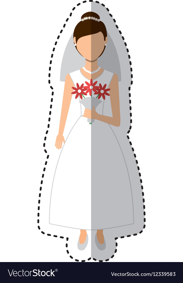 Newly married woman character vector