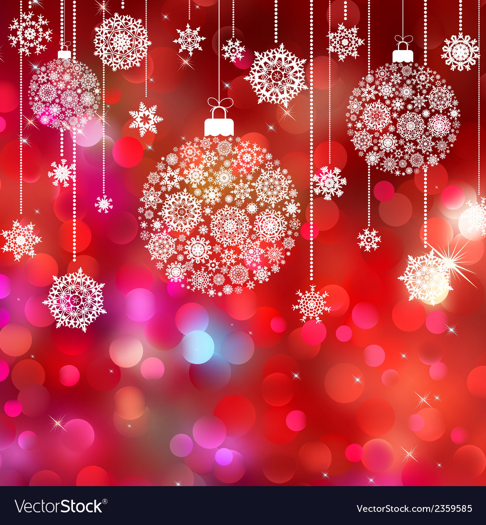 Card with christmas balls eps 8 vector