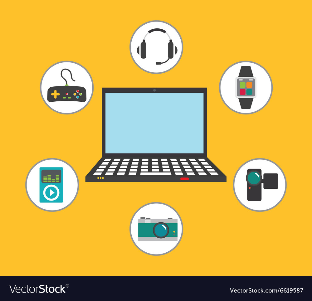 Digital era technology vector