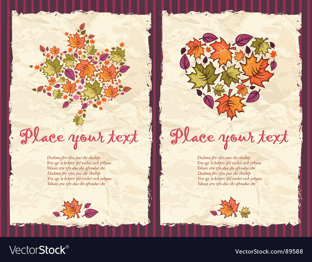 Autumn grunge backgrounds vector