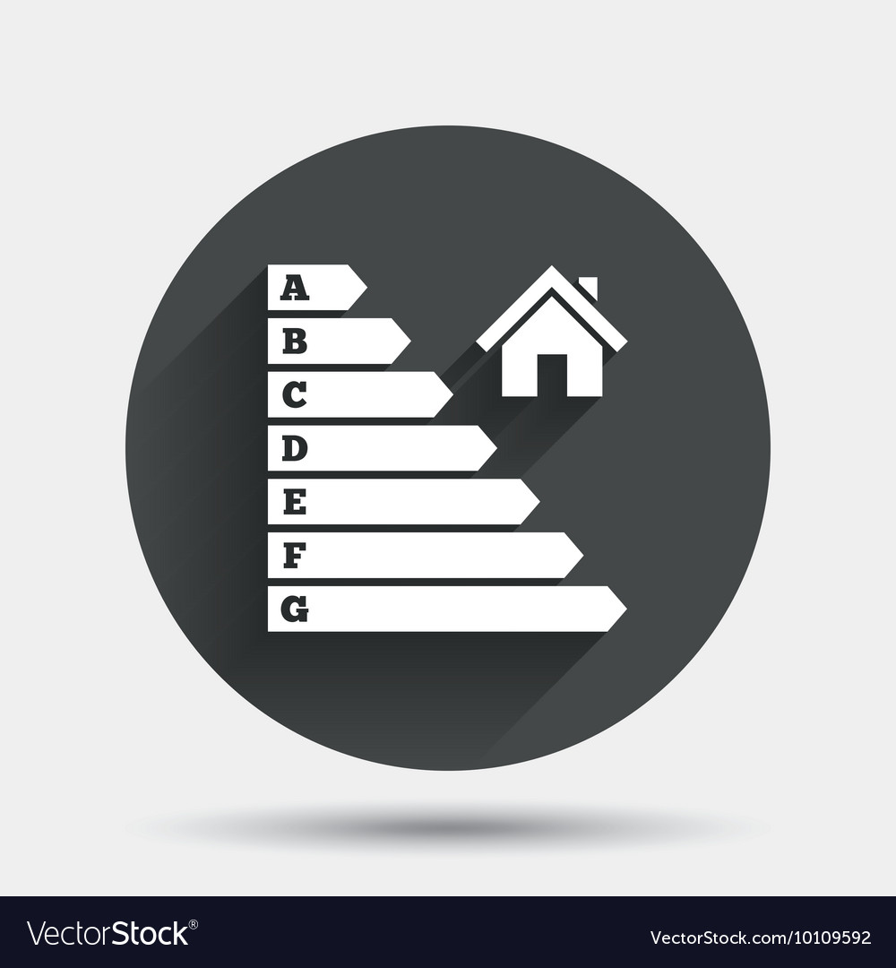 Energy efficiency icon electricity consumption vector