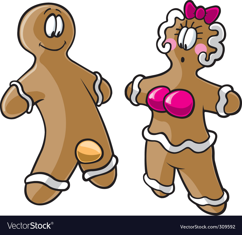 Gingerbread cartoon vector