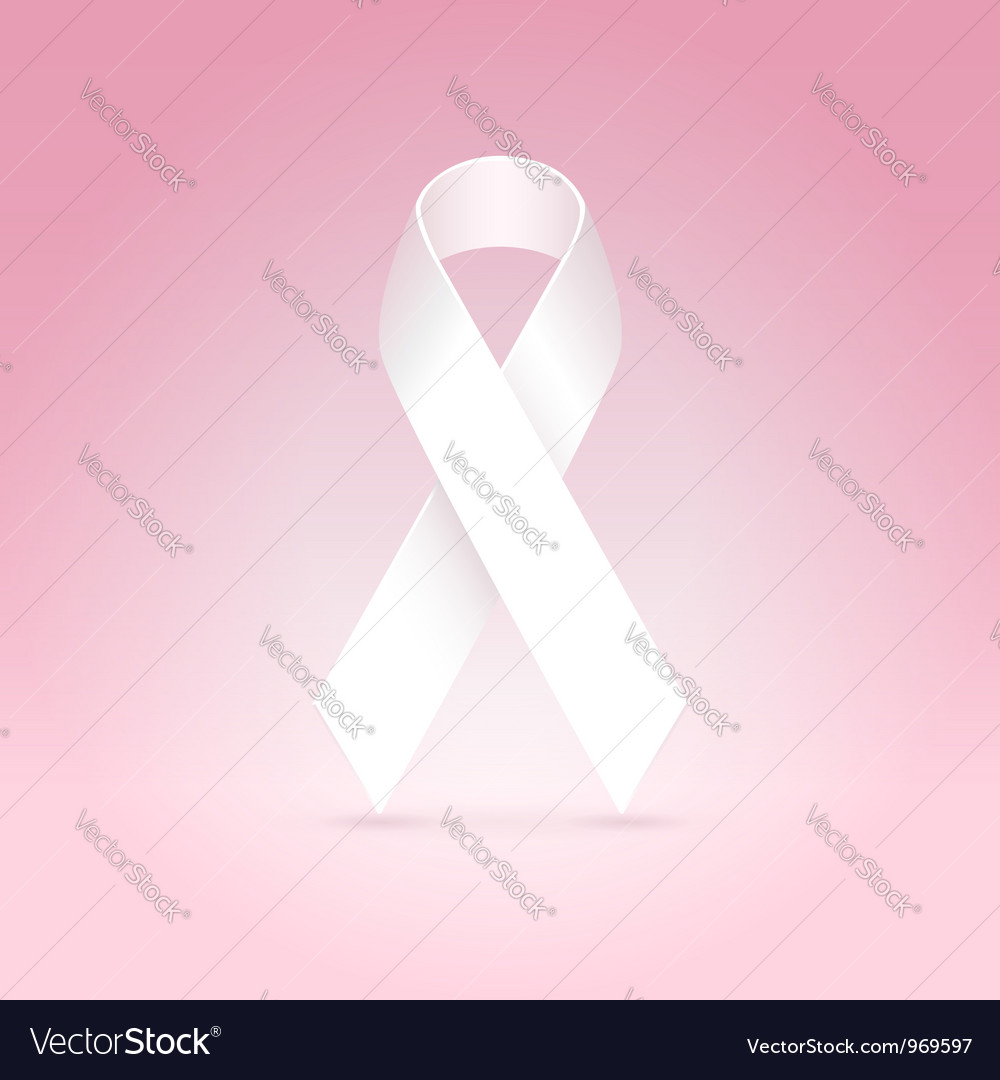 White ribbon vector