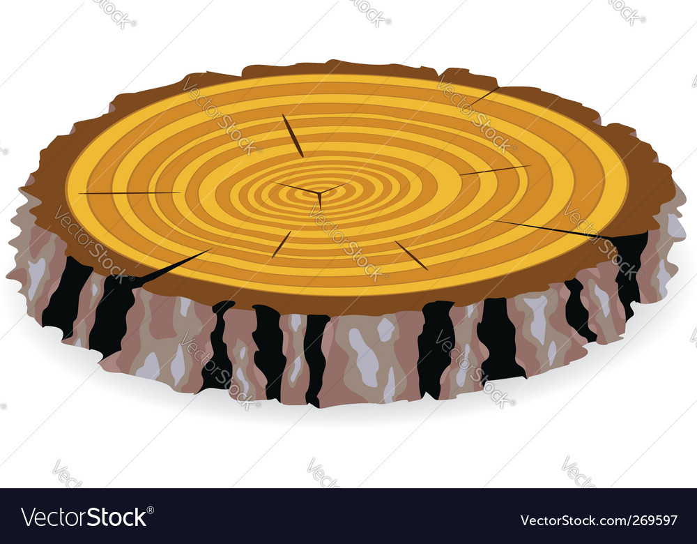 Wooden cut vector