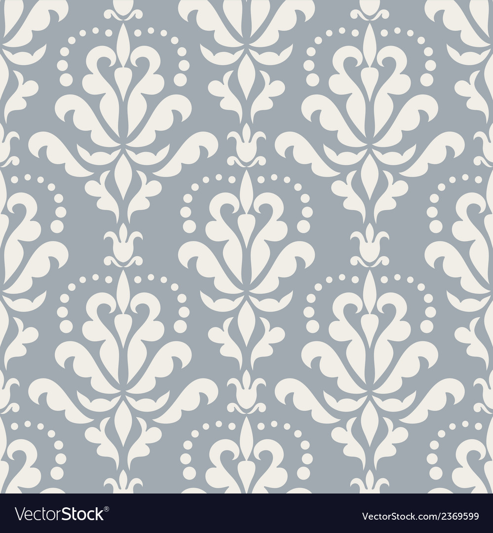 Damask beautiful blue background vector