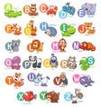 animal english alphabet vector image