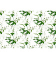 seamless pattern lemon leaves sweet pea greenery vector image