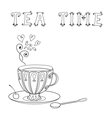 with a cup of tea and an inscription vector image