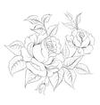 Single black rose ink painted vector image